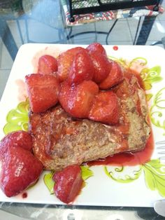 Strawberry French toast.  Week 3 of Fast Metabolism!
