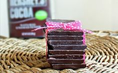 homemade-chocolate-bars at http://chocolatecoveredkatie.com/2012/01/15/three-ingredient-chocolate-bars-1/#