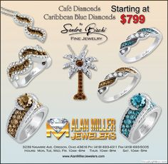 News paper ad for Alan Miller Jewelers in Oregon Ohio.