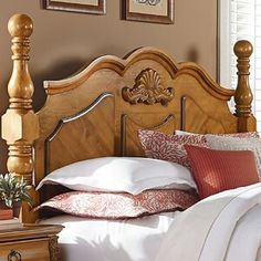 Save much on Rivera Poster Panel Headboard Bookcase Headboard, Wingback Headboard, Queen Headboard, Panel Headboard, Leather Headboard, Rustic Log Furniture, Pine Bedroom Furniture, Furniture Ideas, Master Suite Bedroom