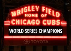"""Chicago Cubs photo print, Wrigley Field sign picture, 5x7 to 30x45"""" on paper or canvas art. Christmas delivery deadline for PAPER PRINTS is Tuesday, December 20th by the end of the day (1 day processing and a complimentary upgrade to a 1-day expedited shipping - you will get your prints within 2 days of a purchase!). CANVAS prints take longer and those will arrive after Christmas. This is Chicago Wrigley Field sign photo print after Cubs won their title. Black and white art picture, small…"""