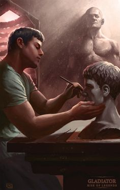 Gladiator: Rise of Legends - Artisan by Rob-Joseph on DeviantArt Dnd Classes, Alternate Worlds, Battle Cry, Youtube I, Character Modeling, Book Cover Art, Aang, Historical Fiction, Character Description