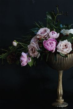 d31ad64450d7e7 Baroque inspired flower arrangement in the venice compote by Accent Decor