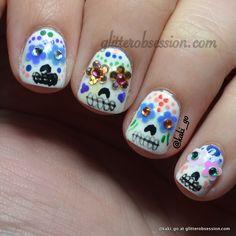 Halloween Nail Art: Sugar Skulls
