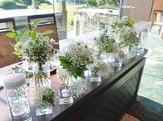 #james-tei#novarese#vressetrose#wedding #white #banqet #natural#flower #bridal#maintable#table#ジェームス邸#ノバレーゼ# ブレスエットロゼ #ウエディング# ホワイト#グリーン#バンケット# メインテーブル# ナチュラル#スタイリッシュ# ブライダル#結婚式#ブレスエットロゼ神戸#カスミ草#水中花#キャンドル Aso, Greenery, Backdrops, Glass Vase, Wedding Flowers, Table Settings, Table Decorations, Bridal, Nature