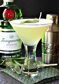 These Sage Gin Martinis are going to be shaking up your cocktail hour this weekend - in magical cocktail form!