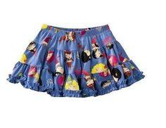 Harajuku Mini - Gwen Stefani Blue Print Atlantic Mermaid Skirt 2T