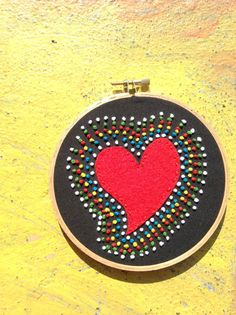 Signature Heart Embroidery Hoop