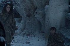 """21 detalhes que você pode ter perdido no final de """"Game of Thrones"""". Bran tem a visão da Torre da Alegria na mesma árvore onde Jon fez seu voto à Patrulha da Noite na 1ª temporada."""