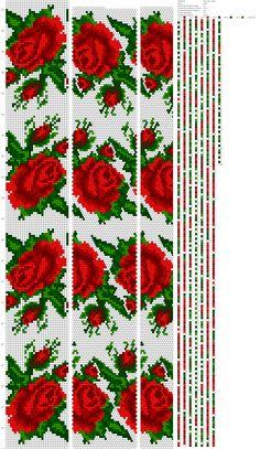 Wayuu Mochila pattern rose