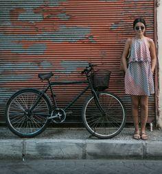 www.sukucuktepepinar.com fashion, fashion blogger, patterned dress, style, street style, bike