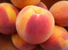 Perfect juicy peaches in the summertime.