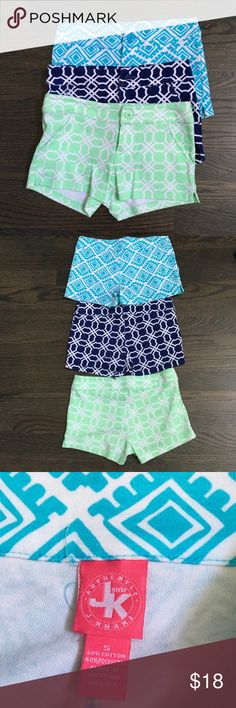 Girls size 10 shorts Three great pairs of girls size 10 shorts in extra soft fabric! Super stylish and super cute paired with any tank top or shirt! Authentic J Khaki Bottoms Shorts