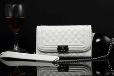 Chanel Samsung Galaxy S5 Leather Case Cover White W Mirror Free Shipping - Deluxeiphonecase.com