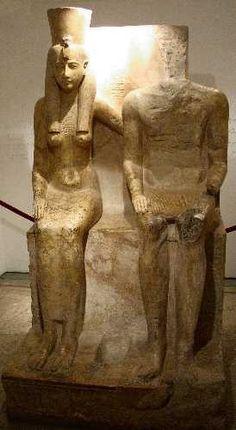 Amon et Mout, époque de Ramsès II.