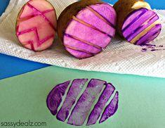 easter egg potato stamp craft