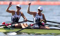 Victoria Thornley and Katherine Grainger at River Lagoa at Rio 2016 Women's Double Sculls Heats