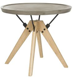 Kyla Concrete End Table with Price : $ 184.99