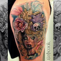 #MarieAntoinette piece - Liz Cook Tattoo(Dallas, TX) - HC 2015