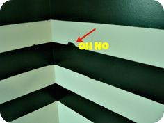 How to Paint a Striped Wall & How to Fix Bleed Through. Must pin if you plan on painting a striped wall.