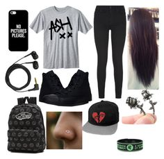 """""""problem"""" by katyahernandez ❤ liked on Polyvore featuring interior, interiors, interior design, home, home decor, interior decorating, 7 For All Mankind, Converse, Casetify and Sennheiser"""