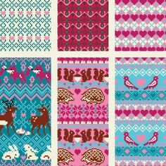 Resultado de imagen de intarsia and fair isle knitting charts on picasa web albums Fair Isle Knitting Patterns, Loom Knitting Patterns, Knitting Charts, Knitting Stitches, Knitting Projects, Baby Knitting, Stitch Patterns, Knitting Tutorials, Free Knitting
