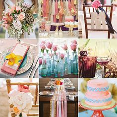 outdoor wedding reception ideas | Think Pink (Palette): Fresh Shades to Complement the Rosy Color