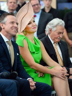 Máxima de Holanda, una Reina de verde y ecológica en las vísperas de su cumpleaños #realeza #royalty