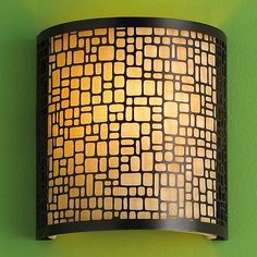 Laser Cut Geometric Sconce - Lamp Shades - by Shades of Light Glass Pendant Light, Glass Pendants, Pendant Lighting, Fabric Shades, Lamp Shades, Laser Cutter Engraver, Laser Cutting Service, Laser Cut Screens, Laser Cutter Projects