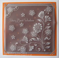 Vellum Paper, Paper Cards, Hobbies And Crafts, Crafts To Make, Clarity Card, Parchment Design, Beaded Flowers Patterns, Parchment Cards, Embroidery Cards