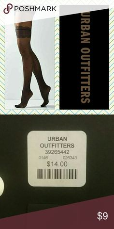 UO Faux Garter Tights Black tights that give the illusion of thigh highs,  but they go all the way up.  Sexy!!!  New in pkg.  Size S/M.    I have these in M/L in a separate listing!!! Urban Outfitters Accessories Hosiery & Socks