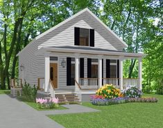 Small Beach Cottage Floor Plans | Plan Amelia- Stock House Plan