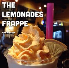 Meet our newest Girl Scout Creation! The Lemonades Frappe! Lemonade cookies, blended into creamy lemon frappe with hints of shortbread and powdered sugar icing. #BrewOriginal #TastesLikeIceboxPie