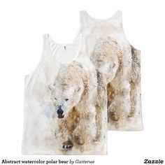 Shop Abstract watercolor polar bear All-Over-Print tank top created by Gatterwe. Printed Tank Tops, Print Tank, Abstract Watercolor, Polar Bear, Art For Kids, Shop Now, Shopping, Accessories, Women