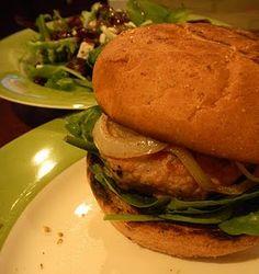 Rosemary Blue Cheese Chicken Burgers