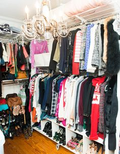 We need a chandelier in our closets, ASAP. www.thecoveteur.com/eleanor_strauss