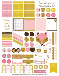 Goldie Fox Printable Planner Sticker Sheet-TawanaSimone-page-001