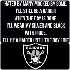 I'll be a Raider until the day I die