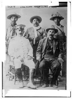 Gen. Alvaro Obregon with Yaqui warriors