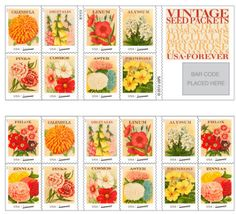 U.S. Postal Service launches vintage seed packets Forever stamps