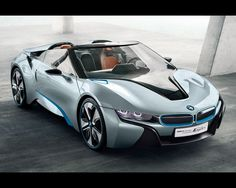 BMW i8 Spyder electric sports car