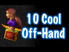 This is a World of Warcraft showcase/tutorial displaying 10 cool off-hand weapons for transmogrification on your character, this is caster off-hands so not d. World Of Warcraft, Neon Signs, Cool Stuff, Youtube, Cool Things, Youtube Movies