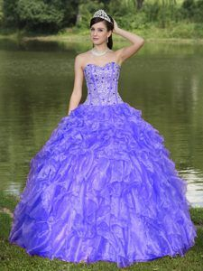 27c48103d61 Beautiful Sweetheart Beaded Organza Quinceanera Dresses with Ruffled Layers  Sweet 15 Dresses