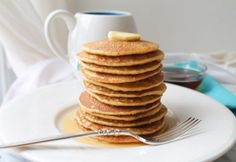 Brown Rice Flour Pancakes for those who have to avoid gluten but don't want to miss out on breakfast! Easy recipe to whip up.