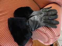 Vintage Leather Made in England Lamb Trimmed by BBGIMAGINATIONS