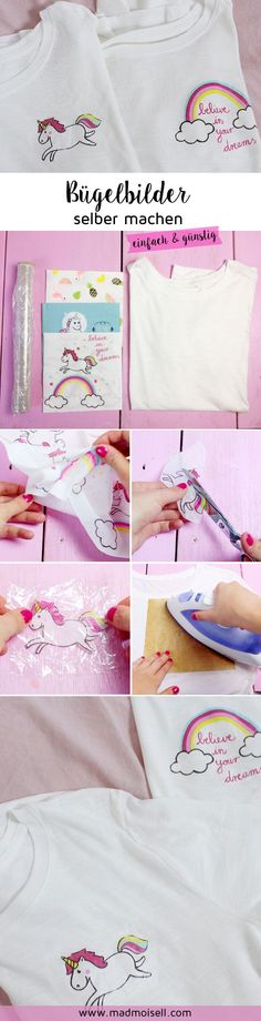 Make iron ons from napkins and plastic wrap