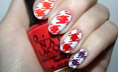 Gingham Style nail art by Polish You Pretty. Click the photo to see the full tutorial!