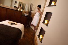 Forum Spa Treatment Room: niches, warm & natural materials