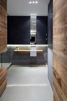Contemporary Reclaimed Wood Bathroom Bath Design Ideas, Pictures, Remodel and Decor