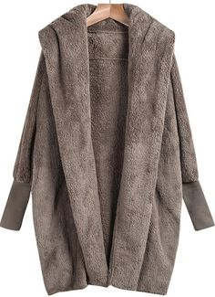 Open Front Loose Grey Cardigan